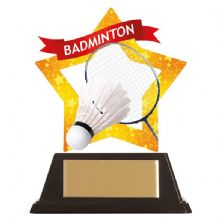 Badminton Mini-Star Acrylic Award